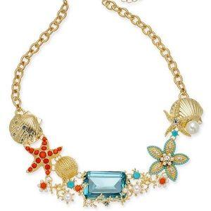 NWT Crystal & Imitation Pearl Starfish Necklace